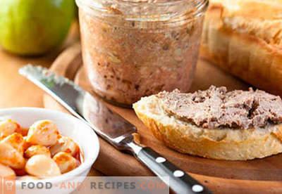 Schweineleberpastete - die besten Rezepte. Wie man richtig und lecker Schweinefleischpastete kocht.