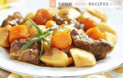 Kartoffeln mit Fleisch in einer Pfanne - Schritt für Schritt Rezepte für leckeres Essen. Familienküche: Kartoffeln mit Fleisch in einem Topf mit Schritt-für-Schritt-Rezepten