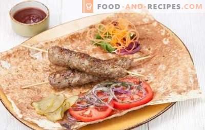 Kebab zu Hause ist einfach! Hausgemachtes Kebab-Schweinefleisch, Lammfleisch, Truthahn, Huhn oder Rindfleisch