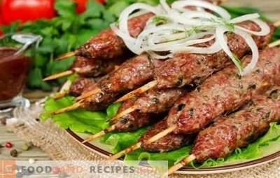 Traditioneller Kebab auf dem Grill: von was und wie. Rezepte für Lula-Kebab aus Lamm, Schweinefleisch, Hähnchen und Kartoffeln