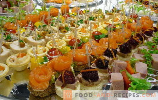 Snacks: die Regeln des Geschmacks. Ideen für schnelle Snacks für teure, aber unerwartete Gäste