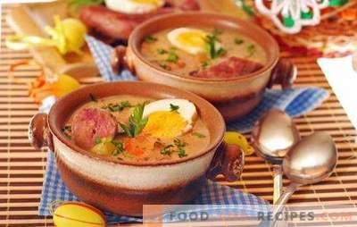 Geräucherte Wurstsuppe - ein voller erster Gang