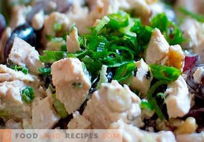 Geräucherter Hühnersalat - die besten Rezepte. Wie man richtig und lecker gekochten Salat mit geräuchertem Hühnchen