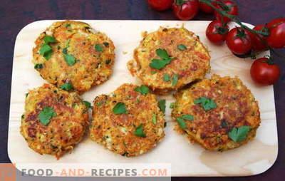 Vegetarische Schnitzel, die für die Gesundheit ihrer Angehörigen sorgen. Rezepte für vegetarische Schnitzel aus Gemüse, Getreide, Hülsenfrüchten usw.