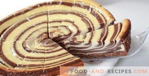 Zebrakuchen - die besten Rezepte. Wie man richtig und lecker Zebra-Kuchen kocht.