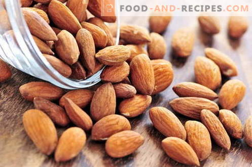 Mandeln - Beschreibung, Eigenschaften, Verwendung beim Kochen. Rezepte mit Mandeln.