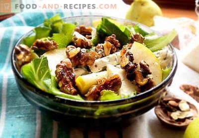 Salate mit Birne - fünf beste Rezepte. Wie richtig und lecker Salate mit Birne.