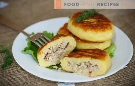 Zrazy-Kartoffel: Rezepte mit schrittweisen Koteletts oder Pasteten? Alle Geheimnisse, Kochen und Füllen für Kartoffel-Zraz (Schritt für Schritt)