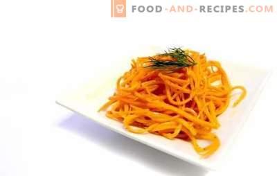 Echte koreanische Karotten zu Hause - pikanter Snack. Rezepte echte koreanische Karotten mit Zusatzstoffen