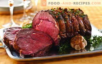 Leckere Fleischgerichte: Gourmet-Festtisch. Perfekte Ideen für heiße Fleischgerichte für besondere Momente des Lebens