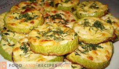 Zucchini im Ofen gebacken - die besten Rezepte. Wie man richtig und lecker kocht gebackene Zucchini.