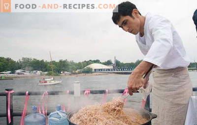 Pilaw in einem Kessel auf offenem Feuer: Den Unterschied spüren! Rezepte für das Kochen von Pilaw in einem Kessel am Feuer: Fleisch und Mager