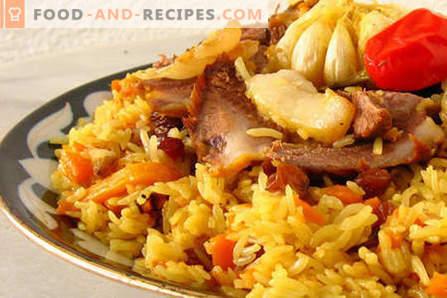 Rindspilaw - die besten Rezepte. Wie man den Pilaw richtig und lecker aus Rindfleisch kocht.