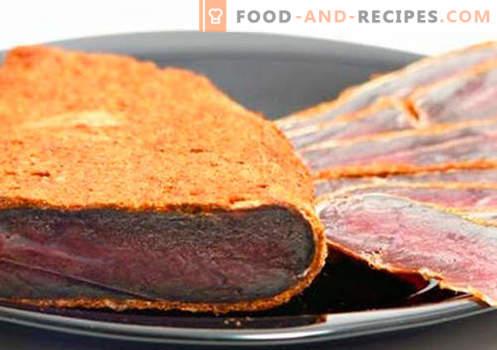 Home Basturma - die besten Rezepte. Wie man richtig und lecker bastelma vom Rind oder Hühnchen zu Hause kocht.