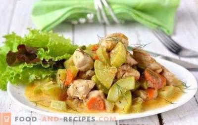 Hähnchen mit Zucchini in einem langsamen Kocher - eine leckere Kombination. Die besten Rezepte für Hühnchen mit Zucchini in einem langsamen Kocher: Braten, Reis und Pilze