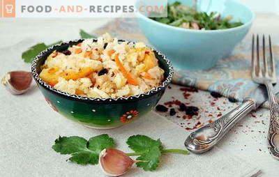 Pilaw im Ofen: die wichtigsten Nuancen beim Kochen. Pilaw-Rezepte im Ofen: Fleisch, Gemüse, süß
