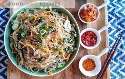 Funchoza-Rezept für Schritt für Schritt - der Zauber der orientalischen Küche. Funchoza: Schritt für Schritt Rezept für einen Snack, Hauptgang, Salat
