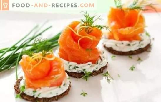 Rezepte für köstliche kalte Vorspeisen aus einfachen Lebensmitteln. Von Hering oder Leber: köstliche kalte Snacks an jedem Tisch