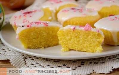 Maismehlmuffins: elegantes sonniges Dessert! Schritt für Schritt Autorenrezept für schnelle Maiskuchen (mit Foto)