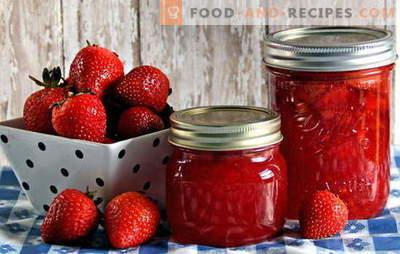 Erdbeer-Konservierung - Aroma und Geschmack bleiben erhalten. Erdbeerkonservierung: Rezepte für Marmelade, Kompott, Marmelade usw.