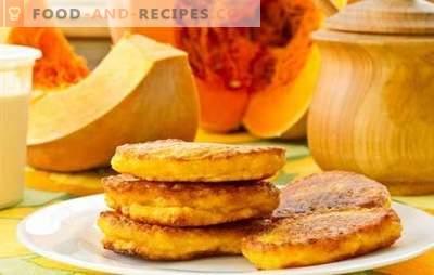 Lenten Kürbisgerichte - eine gesunde Vielfalt. Rezepte für die Fastensuppe von Kürbis: Müsli, Suppen, Pasteten, Mantis, Pfannkuchen, Salate