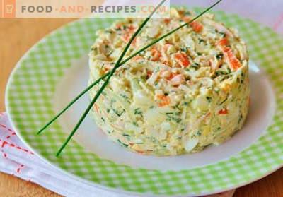 Krabbensalat mit Gurken - bewährte Kochrezepte. Wie man einen Krabbensalat mit Gurke zubereitet.