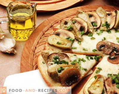 Pizza mit Pilzen - die besten Rezepte. Wie man richtig und lecker Pilzpizza kocht.