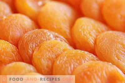 Getrocknete Aprikosen - Beschreibung, Eigenschaften, Verwendung beim Kochen. Rezepte mit getrockneten Aprikosen.