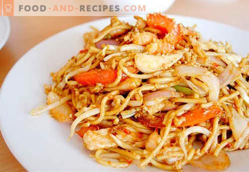 Chinesische Nudeln - die besten Rezepte. Wie man richtig und lecker chinesische Nudeln zu Hause kocht.
