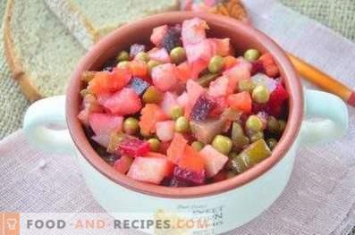 Grüne Erbsen-Salate