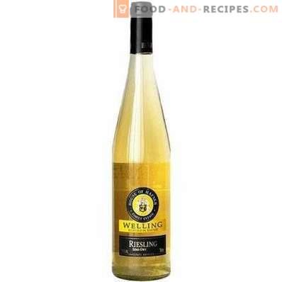 Was trinken sie weißen halbtrockenen Wein