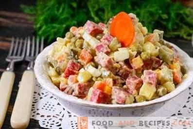 Geräucherte Wurstsalate