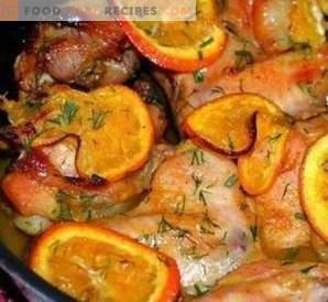 Hühnchen mit Orangenmarinade