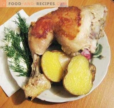 Hähnchenschenkel in einem langsamen Kocher gebacken