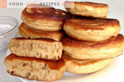 Pfannkuchen auf Kondensmilch
