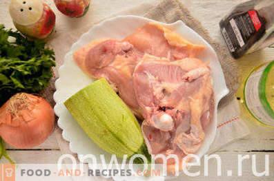 Пиле с тиквички във фурната