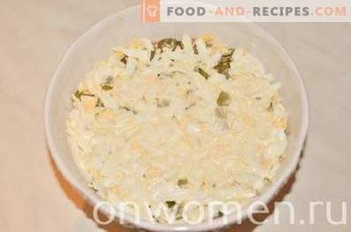 Schichtsalat mit Lachs und Reis