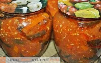 Auberginen in Tomatensauce für den Winter