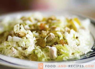 Hühnersalat mit Kohl - die besten Rezepte. Hühner- und Kohlsalat richtig kochen.