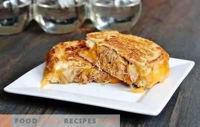 Gerichte aus Fleisch mit Käse überbacken - jede Gastgeberin kann damit umgehen! Mit Käse überbackenes Fleisch im Ofen mit Pilzen und Früchten