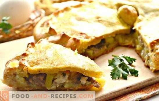 Hähnchen-Kurnik mit Kartoffeln: ein Rezept für russische Torte. Wie man Hühnchen mit Kartoffeln kocht (Schritt für Schritt Rezepte)
