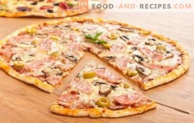 Dünner Pizzateig - das Geheimnis der Italiener! 7 beste Rezepte für dünnen Pizzateig: ohne Hefe und die übliche Hefe