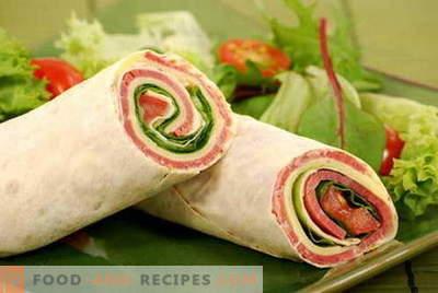 Lavash Roll - die besten Rezepte. Wie man richtig und lecker Pita rollt.