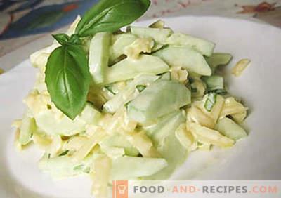 Gurkensalat mit Käse - die besten Rezepte. Wie man richtig und lecker einen Gurkensalat mit Käse zubereitet