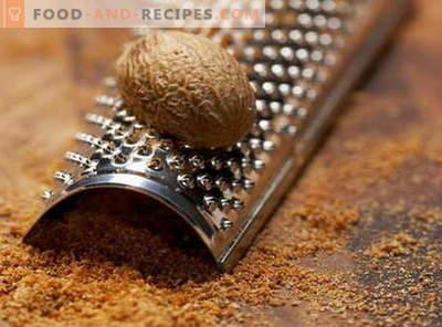 Muskatnuss - Eigenschaften und Verwendung beim Kochen. Rezepte mit Muskatnuss.