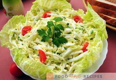 Chinakohlsalat - die besten Rezepte. Wie man richtig und schmackhaft gekochter Chinakohlsalat kocht.