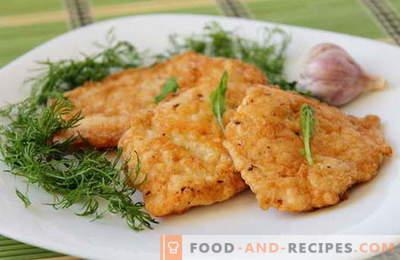Hühnerkoteletts sind die besten Rezepte. Wie man richtig und lecker Hühnerkoteletts kocht.