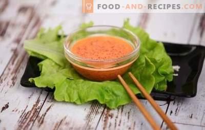 Würzige Sauce - japanische Note auf der Speisekarte! Rezepte für scharfe scharfe Saucen mit Pfeffer, Kimchi, Lodde und fliegendem Fischkaviar, Mayonnaise, Knoblauch