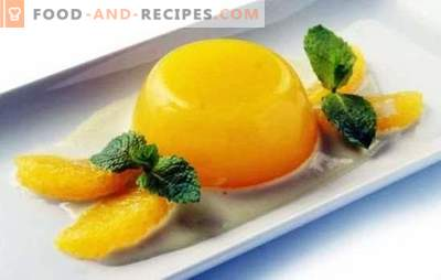 Jelly mit Orangen ist ein leichtes und gesundes Dessert. Wie man Gelee mit Orangen und Rezepten mit ihm kocht